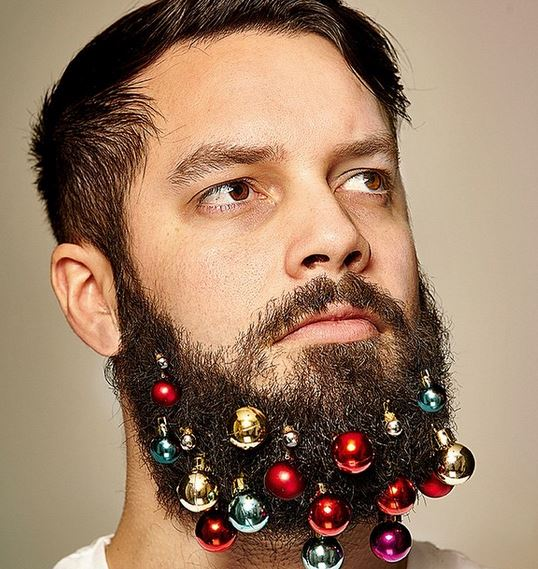 Decorating Your Beard with Tiny Christmas Lights
