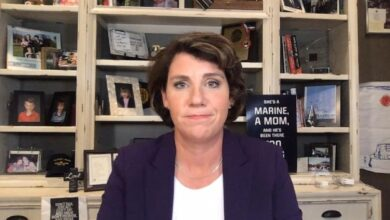 Photo of Amy McGrath, hoping to unseat Mitch McConnell, confident Kentucky wants change